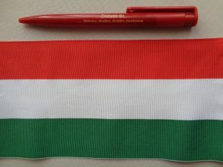 10 cm széles nemzeti színű szalag (2681-4)