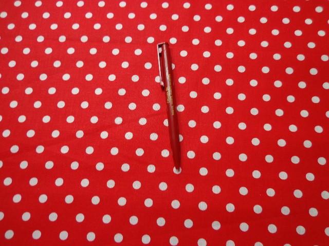 Piros alapon fehér babos pöttyös karton (2853)