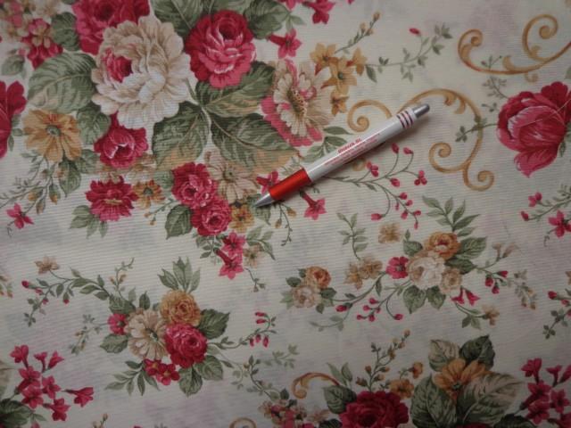 Loneta, nagy angol rózsás kerti bútor vászon (2586-5)