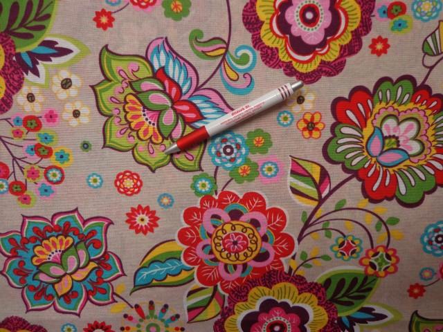 Loneta, retro mintás kerti bútor vászon (2586-6)