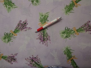 Loneta, lila alapon levendula csokros, kerti bútor vászon (2586-9)