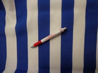 Loneta, kék-fehér csíkos kerti bútor vászon (2586-14)