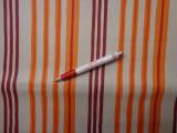 Loneta, csíkos kerti bútor vászon, narancssárga-bordó (2463-2)