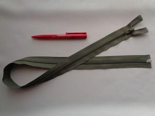75 cm hosszú spirál fogú (RT-10) zipzár, keki (2894)