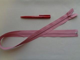 75 cm hosszú spirál fogú (RT-10) zipzár, rózsaszín (2896)
