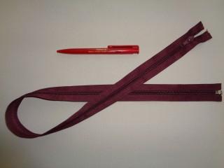 75 cm hosszú spirál fogú (RT-10) zipzár, bordó (2897)