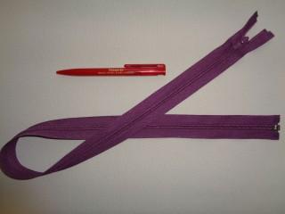 75 cm hosszú spirál fogú (RT-10) zipzár, lila (2898)