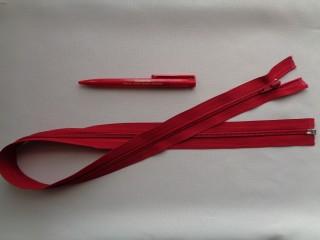 75 cm hosszú spirál fogú (RT-10) zipzár, piros (2899)