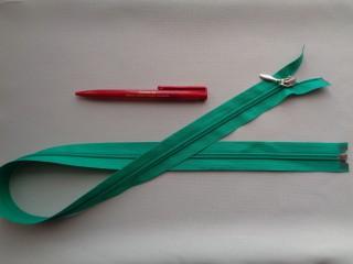 75 cm hosszú spirál fogú (RT-10) zipzár, zöld (2900)