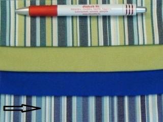UV álló kültéri vászon, kék-fehér csíkos (2954)