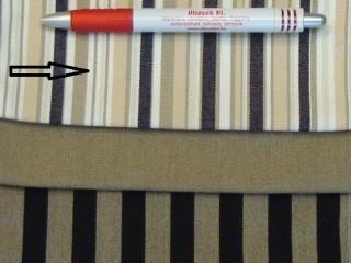 UV álló kültéri vászon, bézs-fehér-fekete csíkos (2962)