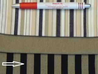 UV álló kültéri vászon, vil. barna-fekete csíkos (2964)
