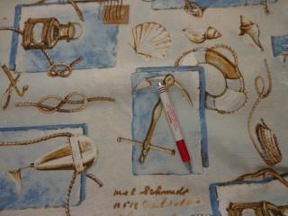 Loneta, tengerész mintás kerti bútor vászon (2966)