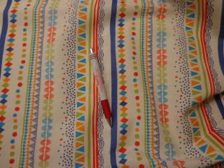 Loneta, geometriai mintás, színes, kerti bútor vászon (2586-17)