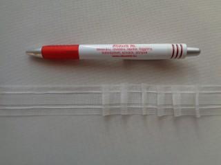 Függönybehúzó, átlátszó, ceruzás, 2,5 cm széles (3060)