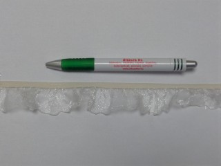 Rugalmas organza fodor, fehér (3073)