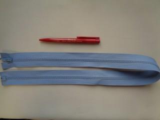75 cm hosszú GT-10-es (P-6) vastag fogú zipzár, világoskék (2907-2)