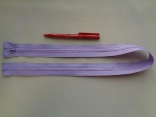 75 cm hosszú GT-10-es (P-6) vastag fogú zipzár, halvány lila (2905-2)