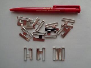 Fürdőruha kapocs, ezüst, fém, 23 mm-es (2793-1)