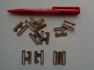 Fürdőruha kapocs, bronz, fém, 23 mm-es (2793-2)