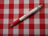 Kockás minimatt szövet, piros-fehér (3183)