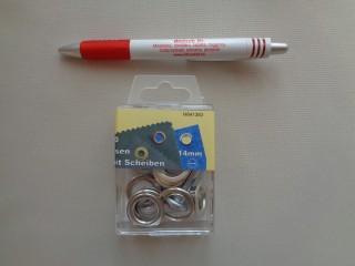 Ringli, 14 mm-es, ezüst (3191)