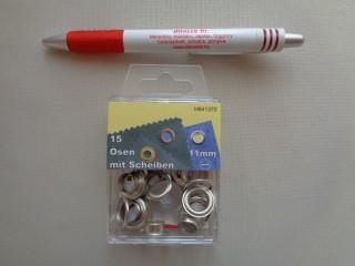 Ringli, 11 mm-es, ezüst (3194)