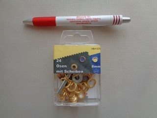 Ringli, 8 mm-es, arany (3197)