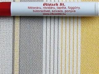 Napellenző vászon, sárga-drapp-szürke csíkos (3416)