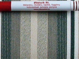 Napellenző vászon, drapp-fehér-zöld csíkos (3417)