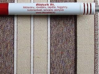 Napellenző vászon, beige-drapp-barna csíkos (3418)