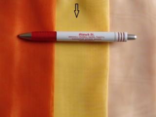 3 m magas egyszínű voile fényáteresztő függöny, napsárga (3461)