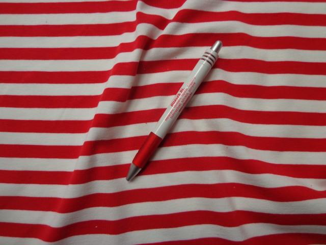 1269664e6027 Pamutjersey, piros-fehér csíkos (3476) - A textíliák világában 36 év ...