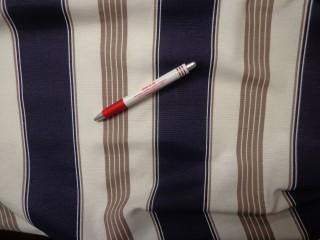 Loneta, kék-barna-fehér csíkos kerti bútor vászon (3515)