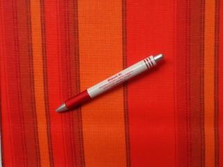 Loneta, narancs csíkos kerti bútor vászon (3516)