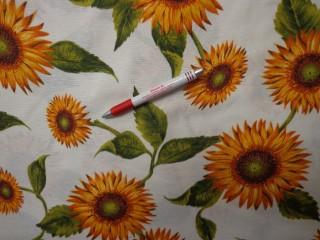 Loneta, napraforgós kerti bútor vászon (3518)