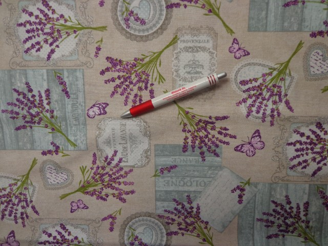 Loneta, levendulás-pillangós kerti bútor vászon (3521)