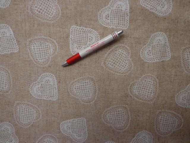 Loneta, horgolt szív mintás kerti bútor vászon (3525)