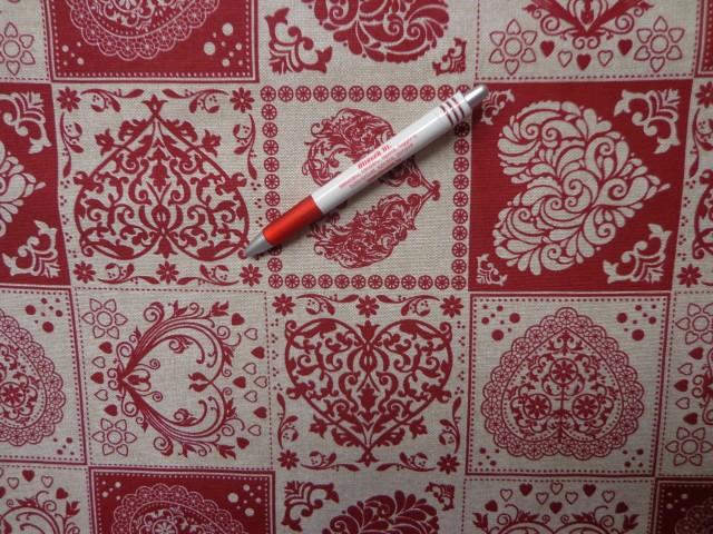 Loneta, bordó szíves  kerti bútor vászon (3528)