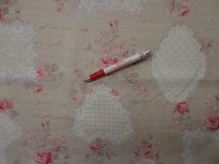 Loneta, rózsaszín rózsás-csipkés kerti bútor vászon (3531)