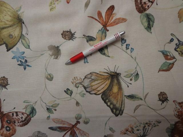 Loneta, barna pillangós kerti bútor vászon (3543)