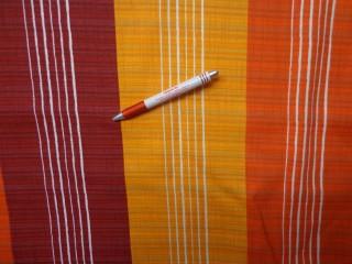 Loneta, narancs-bordó csíkos kerti bútor vászon (3549)
