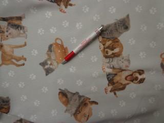 Loneta, kutyás-cicás-tappancsos kerti bútor vászon (3552)
