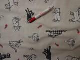 Loneta, fekete-fehér macskás kerti bútor vászon (3558)