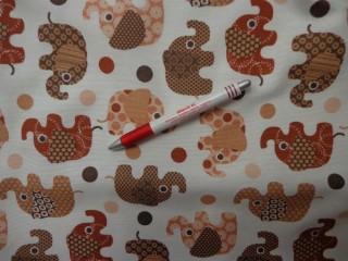 Loneta, barna elefántos kerti bútor vászon (3559)