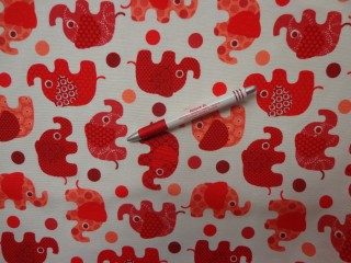 Loneta, piros elefántos kerti bútor vászon (3560)