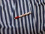 Mintás pamutvászon, kék-fehér csíkos (3840)