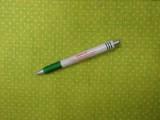 Mintás pamutvászon, kiwizöld alapon fehér tűpettyes (3853)