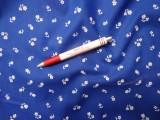 Kékfestő jellegű vászon, kisvirágos (3883)