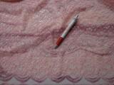Rugalmas csipke, mályva-rózsa melír (3901)